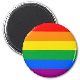 LGBTQ Pride Flag 2 Inch Round Magnet