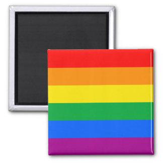LGBTQ Pride Flag 2 Inch Square Magnet