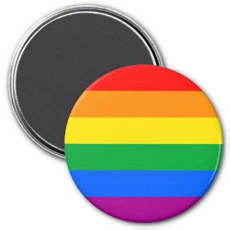 LGBTQ Pride Flag 3 Inch Round Magnet