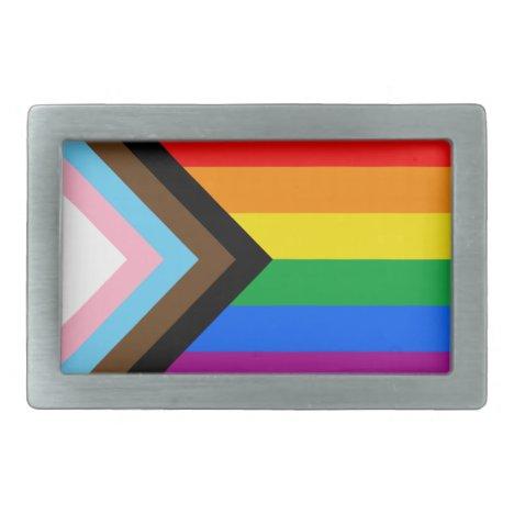 LGBTQ+ Progress Pride Belt Buckle