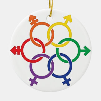 LGBTQ United Ceramic Ornament