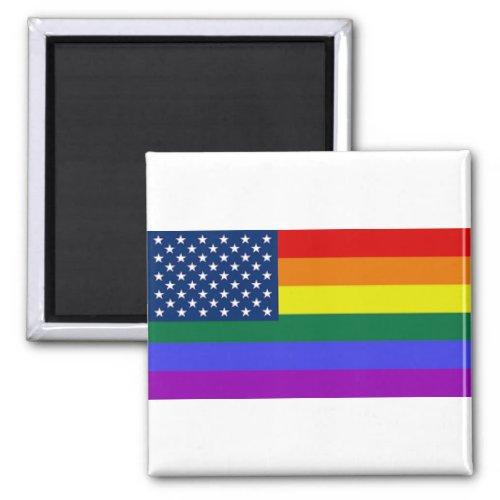 LGBTQ us PRIDE FLAG Magnet