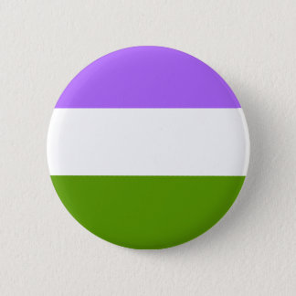 LGBTQA Genderqueer Non-Binary Awarenness Button