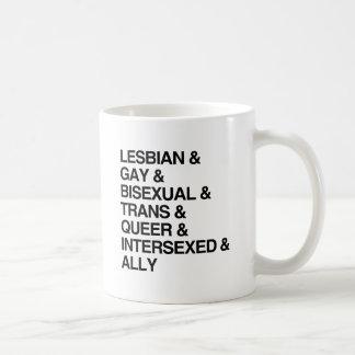 LGBTQI LIST CLASSIC WHITE COFFEE MUG