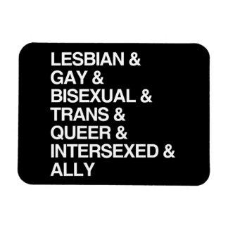 LGBTQI LIST RECTANGULAR MAGNETS