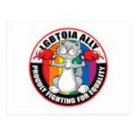 LGBTQIA Ally Cat Postcards