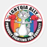 LGBTQIA Ally Cat Stickers