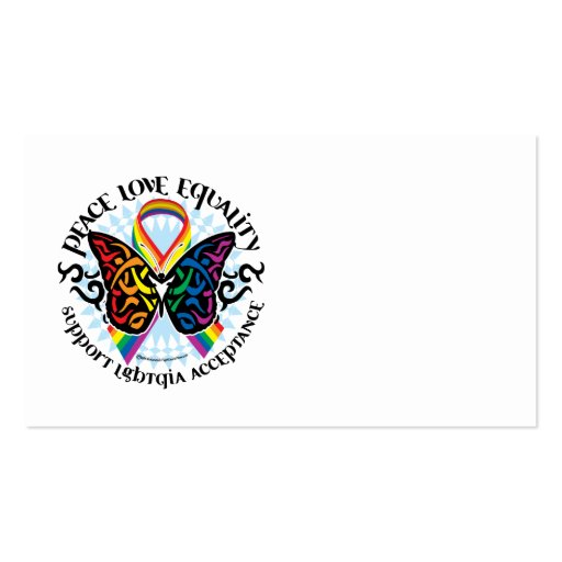 LGBTQIA Butterfly Tribal Business Card