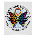 LGBTQIA Butterfly Tribal Poster
