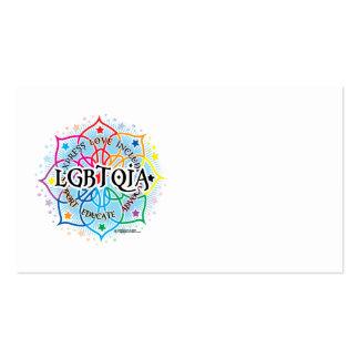 LGBTQIA Lotus Plantillas De Tarjeta De Negocio
