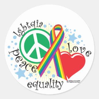 LGBTQIA PLE CLASSIC ROUND STICKER