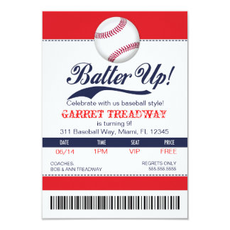 LGC Batter Up Baseball Ticket 2nd Version Card