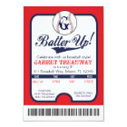 LGC Batter Up Baseball Ticket Celebration/Birthday Card