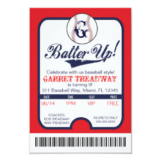 LGC Batter Up Baseball Ticket Celebration/Birthday Card