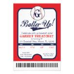 LGC Batter Up Baseball Ticket Celebration/Birthday Custom Announcement