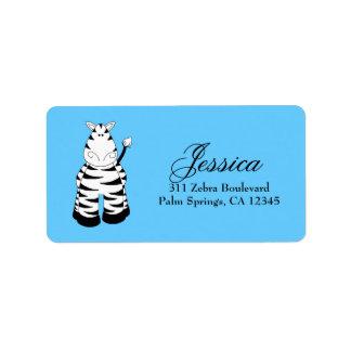 LGC Blue Zebra Custom Address Label