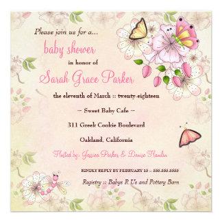 LGC Garden Baby Shower Custom Invitations