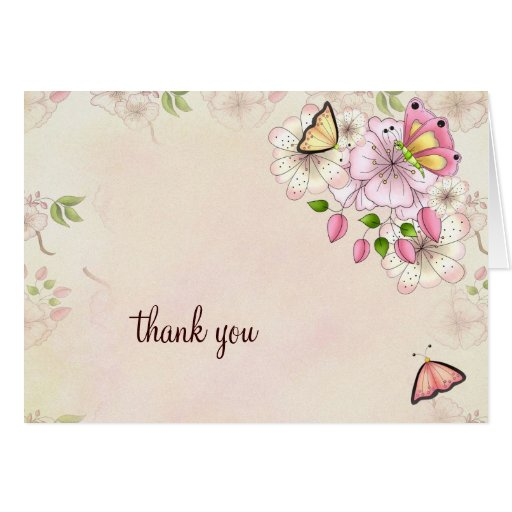lgc garden baby shower thank you greeting card