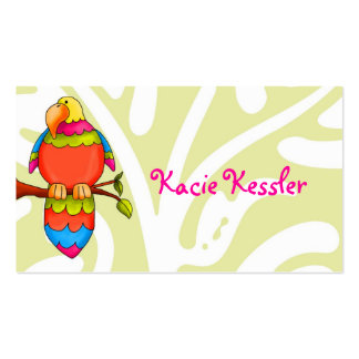 LGC   Kid's Photo ID Card - Parrot Business Card