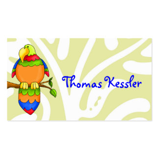 LGC   Kid's Photo ID Card - Parrot Business Card Templates