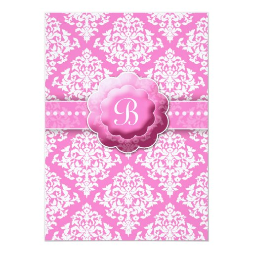 "LGC | One Hot Momma Baby Shower White Pink 5"" X 7"" Invitation Card"