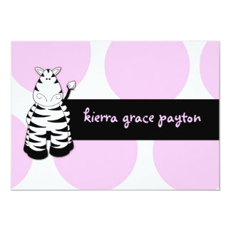 LGC | Pinkie the Zebra Invitation