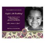 LGC | Sweet Paisley Purple Custom Invites