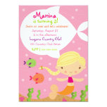 LGC The Merry Mermaid Blonde 5x7 Paper Invitation Card