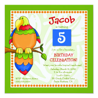 LGC   Tropical Parrot-dise Invitation