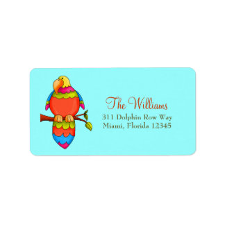 LGC   Tropical Parrot Personalized Address Label