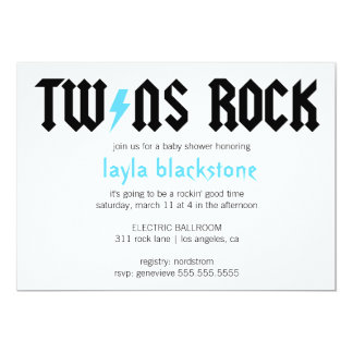 LGC Twins Rock Boys Invitation