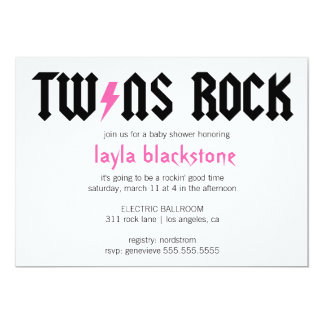 LGC Twins Rock Girls Invitation