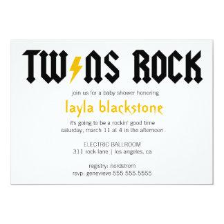 LGC Twins Rock Yellow Invitation