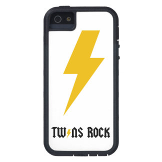 LGC Twins Rock Yellow Lightening Bolt iPhone SE/5/5s Case