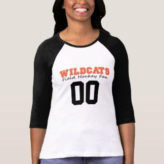 LGFH Wildcats Fan 3/4 Raglan Jersey Number Tee