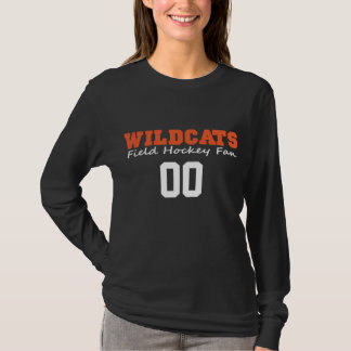 LGFH Wildcats Fan Long Sleeve Jersey Number Tee