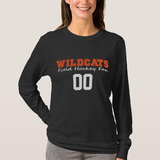 LGFH Wildcats Fan Long Sleeve Jersey Number Tee