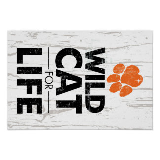 LGHS Wildcat for Life Poster with heart-shaped paw