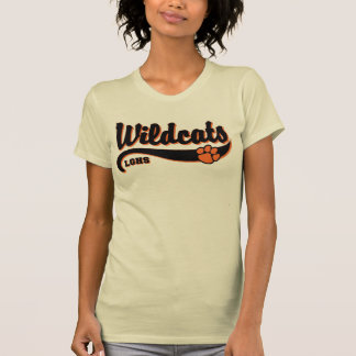 LGHS Wildcats Script Logo Ladies Tee in Cream