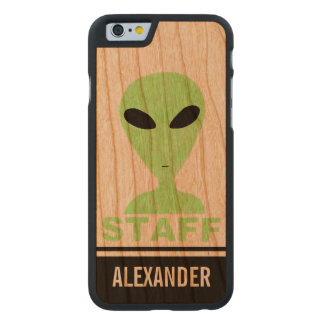 LGM Staff Alien Humor UFO Geek Carved® Cherry iPhone 6 Case