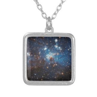 LH95 Stellar Nursery Square Pendant Necklace