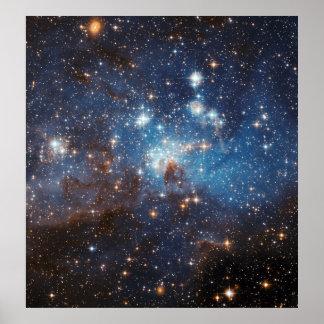 LH 95 en la nube de Magellanic grande Póster