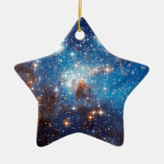 LH 95 Star Forming Region - Hubble Space Photo Ceramic Ornament