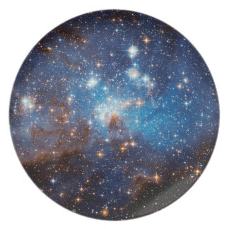 LH 95 Star Forming Region - Hubble Space Photo Dinner Plate