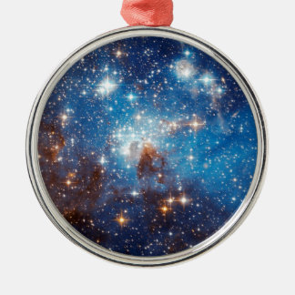 LH 95 Star Forming Region - Hubble Space Photo Metal Ornament