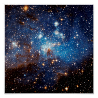 LH 95 Star Forming Region - Hubble Space Photo Poster