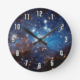 LH 95 Star Forming Region - Hubble Space Photo Round Clock