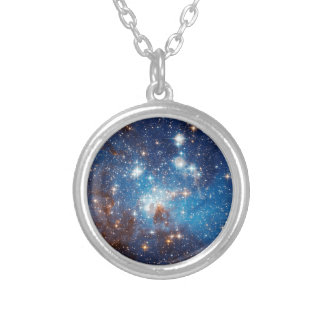 LH 95 Star Forming Region - Hubble Space Photo Silver Plated Necklace