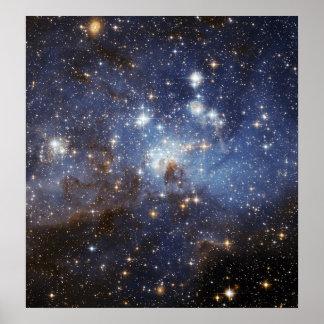 LH 95 Star forming region NASA Poster
