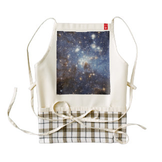 LH 95 stellar nursery space photography Zazzle HEART Apron